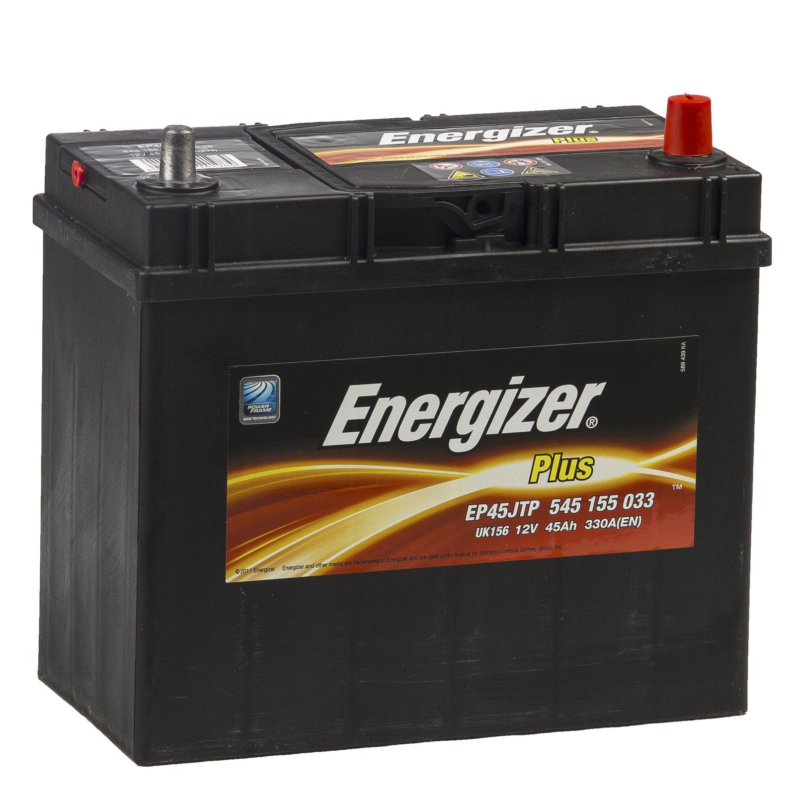 Батарея аккумуляторная Energizer Plus 12В 45Ач 330A(EN) R+
