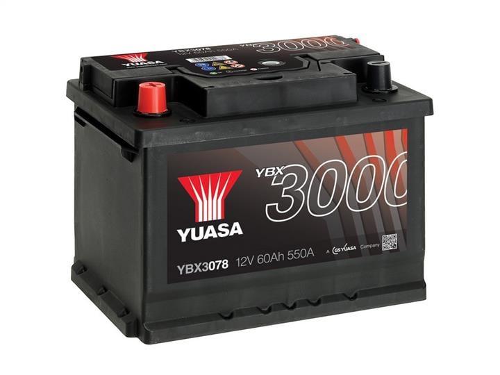 Батарея аккумуляторная Yuasa YBX3000 SMF 12В 60Ач 550A(EN) L+