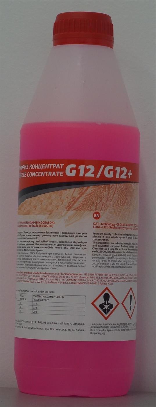 Антифриз G12, -35°C, 1 л