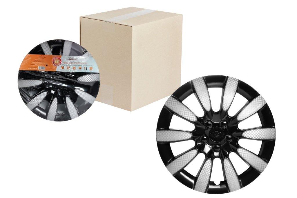 Колпаки колесные Airline AWCC-13-10 Диаметр 13 Серебристый, Черный Цветовой эффект Карбон Количество в упаковке: 2 шт.