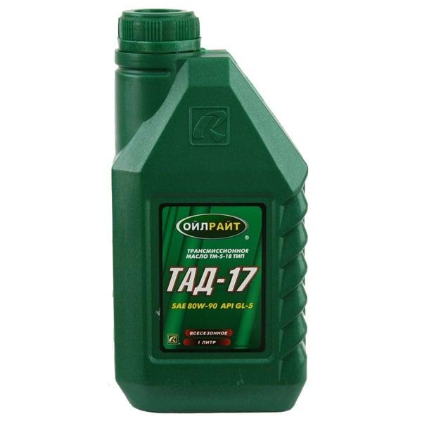 Масло трансмиссионное Oilright ТАД-17 Тип Тм-5-18 80W-90, 1 л