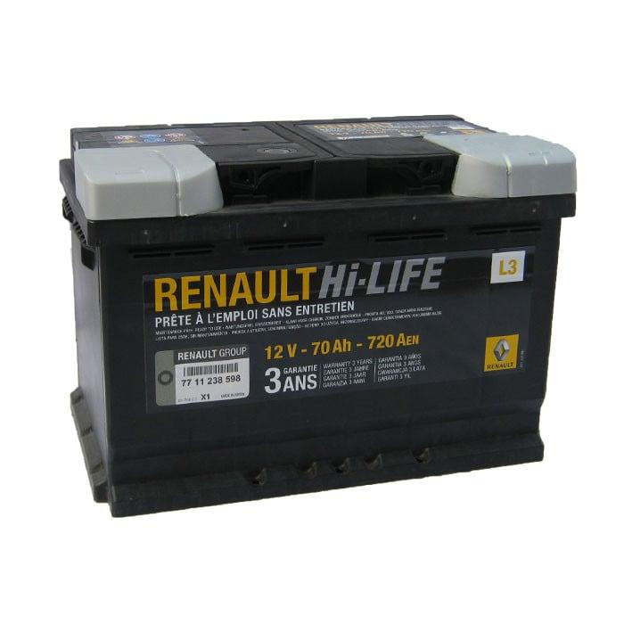 Батарея аккумуляторная Renault 12В 70Ач 720A(EN) R+ Renault 77 11 238 598