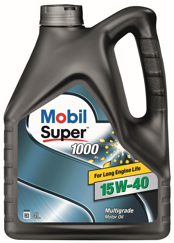 Масло моторное Mobil  Super 1000 X1 15W-40, 4 л (152570)