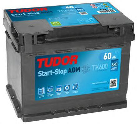 Батарея аккумуляторная Tudor 12В 60Ач 680A(EN) R+ Tudor TK600