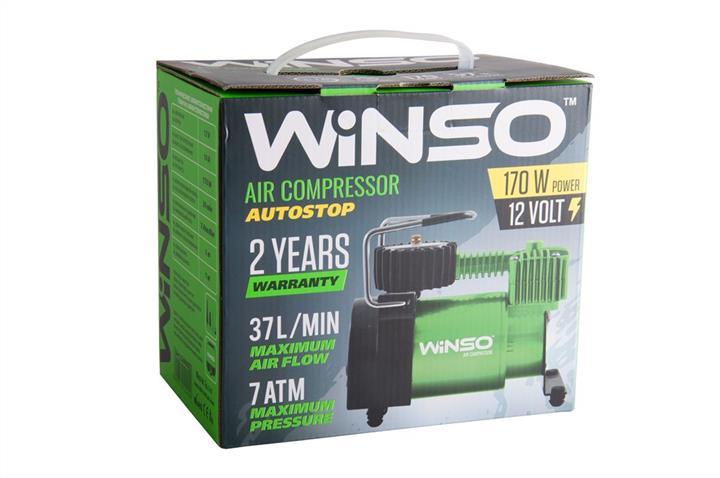 "Компрессор ""WINSO"" 7 Атм, 37 л/мин. 170Вт, кабель 3м., шланг 1м., АВТОСТОП Winso 124000 - фото 3"