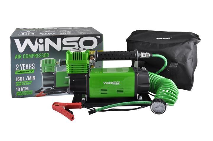 """Компрессор """"WINSO"""" 10 Атм, 160 л/мин. 600Вт,клем.,кабель 2м., шланг 7,4м, спускной клапан"""