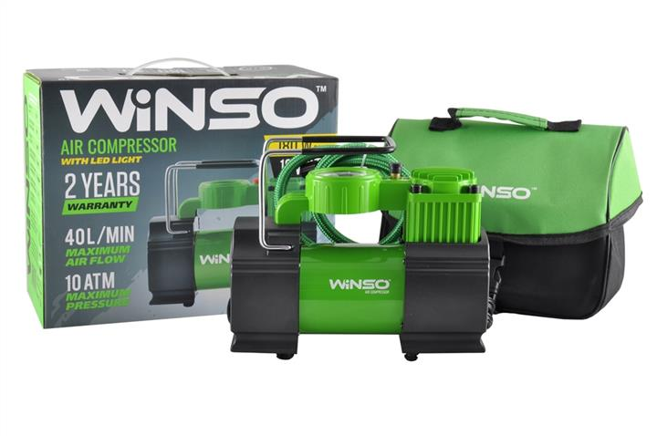 """Компрессор """"WINSO"""" 10 Атм, 40 л/мин. 180Вт., кабель 1м., шланг 3м., LED-фонарь, спускной клапан"""