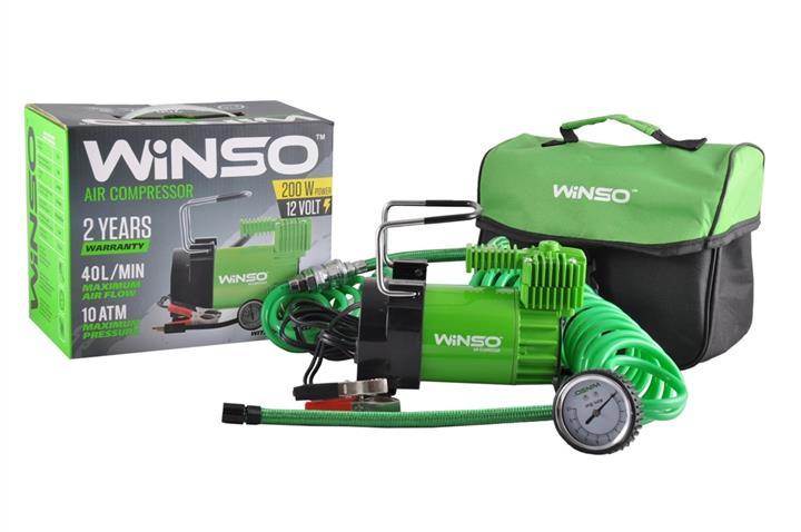 "Компрессор ""WINSO"" 10 Атм, 40 л/мин. 200Вт.клем, кабель 3м., шланг 5,7м., спускний клапан"