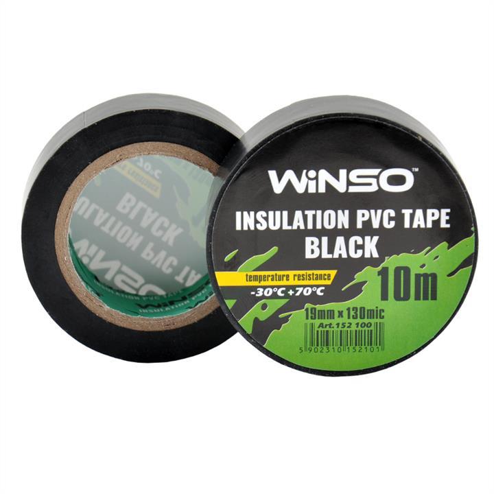 Изоляционная ПВХ лента черная, длина 10м., ширина 19мм., толщина 130мк. Winso 152100