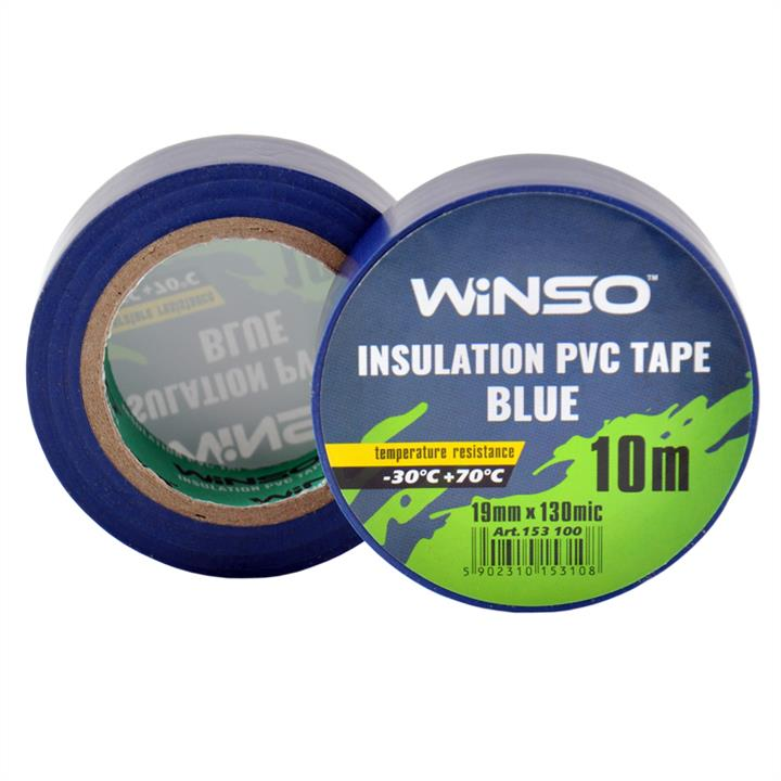 Изоляционная ПВХ лента синяя, длина 10м., ширина 19мм., толщина 130мк. Winso 153100