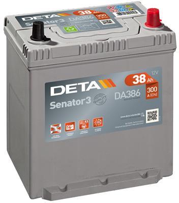 Батарея аккумуляторная Deta Senator 3 12В 38Ач 300A(EN) R+