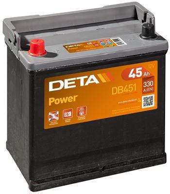Батарея аккумуляторная Deta Power 12В 45Ач 330A(EN) L+
