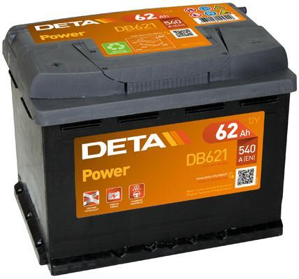Батарея аккумуляторная Deta Power 12В 62Ач 540A(EN) L+