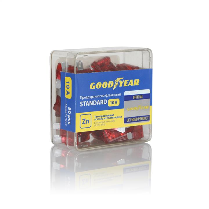 Набор флажковых пластиковых предохранителей Goodyear «стандарт» 50шт (10А) Goodyear GY003062 - фото 4
