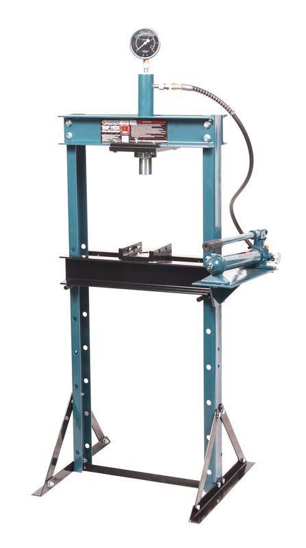 Пресс гидравлический с манометром напольный 12т, (раб. высота: 0-900мм, раб. ширина: 475мм, раб. стол:180х475м