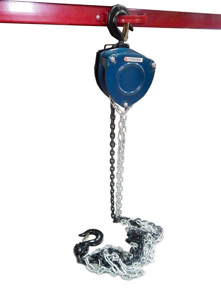 Лебедка механическая подвесная с лепестковым механизмом фиксации цепи натяжения, 2т (длина цепи - 3м) Forsage F-TRC90201A