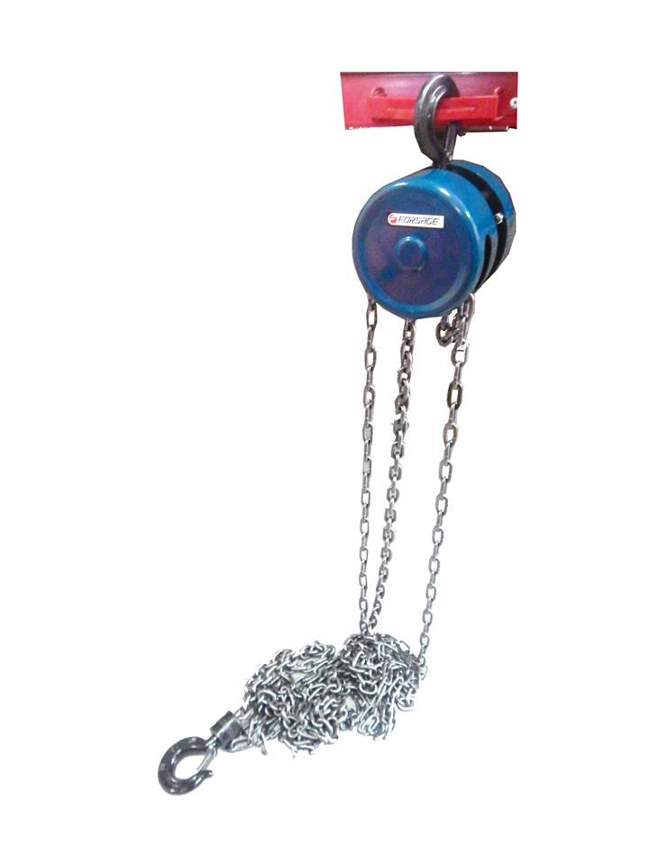 Лебедка механическая подвесная с фиксацией цепи натяжения, 1.5т (длина цепи - 2.5м) Forsage F-TR9015