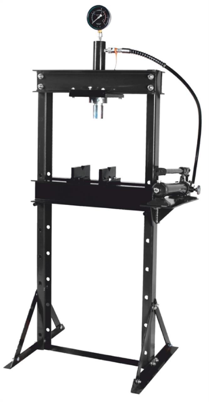 Пресс гидравлический с манометром напольный 12т, (раб. высота: 0-900мм, раб. ширина: 475мм, раб. стол:180х475