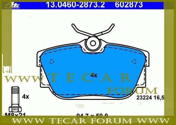 Колодки тормозные дисковые, комплект VAG 7D0 698 451 A