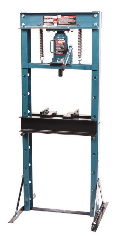 Пресс гидравлический напольный домкратного типа 20т, (рабочая высота: 0-890мм, рабочая ширина: 490мм, рабочий стол: 200х490мм, ход штока: 160мм)