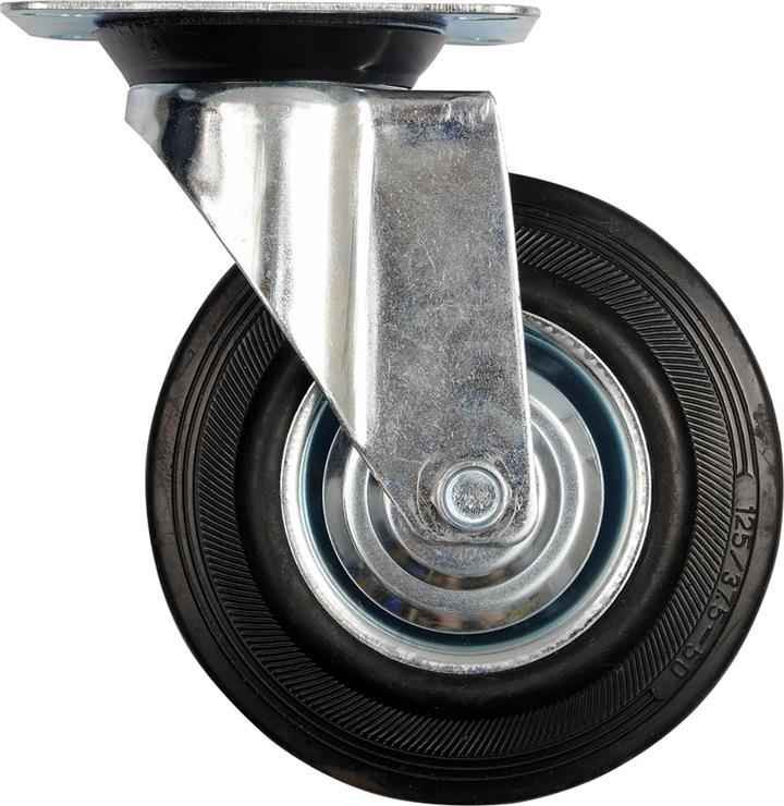 Колесо до візка Ø= 200 мм, b= 46 мм VOREL з обертовою опорою; h= 235 мм,  навантаж.- 150 кг Vorel 87317