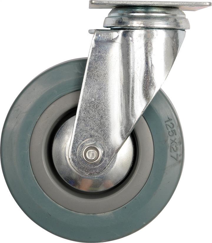 Колесо до візка гумове Ø= 50 мм, b= 16 мм VOREL з обертовою опорою; h= 72 мм, навантаж.- 20 кг Vorel 87361