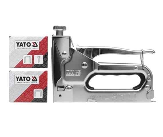 Степлер механический, для П-образных - 6-14х10.6х1.2 мм, U-образных скоб - 10-12х6.2х1.2 мм, гвоздей - 10-14х2х1.2 мм, штифтов - 14х1.2 мм Yato YT-7000