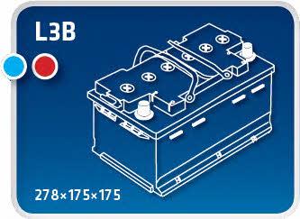 Батарея аккумуляторная Ipsa 12В 75Ач 720A(EN) R+