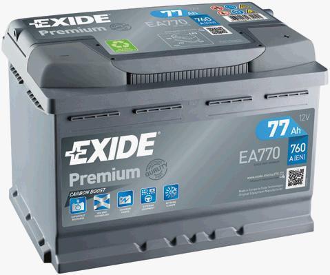Батарея аккумуляторная Exide Premium 12В 77Ач 760A(EN) R+