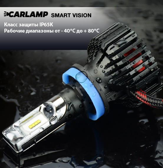 Лампы светодиодные комплект Carlamp Smart Vision H7 12V 30W 6500K (2 шт.) Carlamp SM7