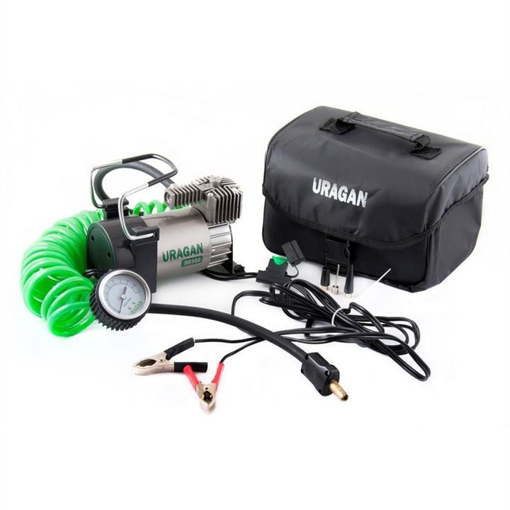 Автомобильный компрессор Uragan однопоршневой 40 л/мин на клеммы АКБ 90140 Uragan 90140 - фото 3