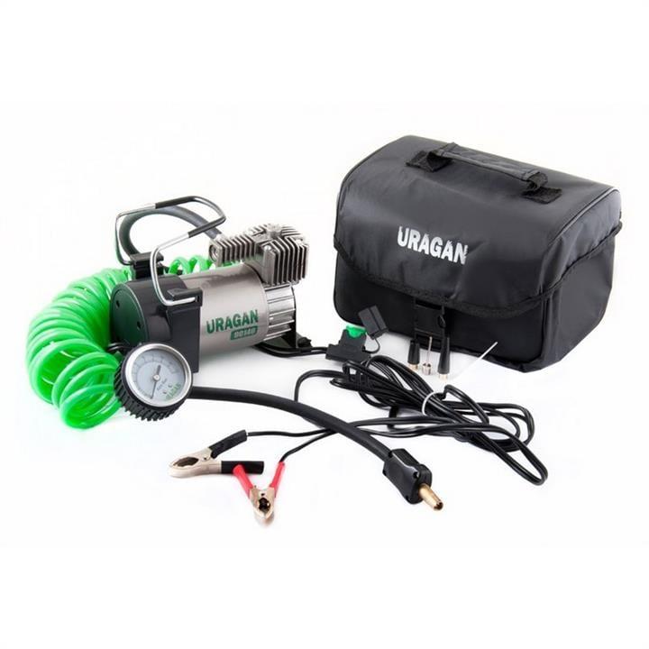 Автомобильный компрессор Uragan однопоршневой 40 л/мин на клеммы АКБ 90140 Uragan 90140