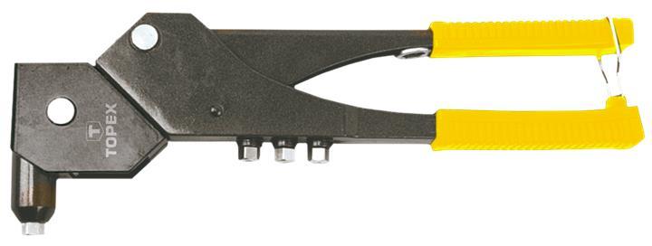 Клепальный инструмент TOPEX для заклепок алюминиевых 2.4, 3.2, 4.0, 4.8 мм, несколько положений TOPEX 43E713