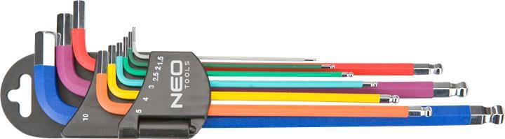 Ключи NEO шестиграннi, 1.5-10 мм, набор 9 шт. * 1 уп.