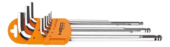 Ключи шестигранные NEO, 1.5-10 мм, набор 9 шт. * 1 уп.