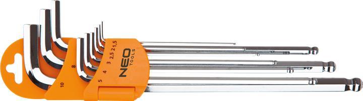 Ключи NEO шестиграннi, 1.5-10 мм, набор 9 шт