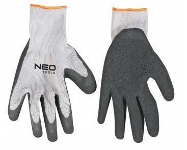 """Перчатки рабочие NEO, х / б с латексным покрытием, сопротивление прокола 3, 8 """", CE"""