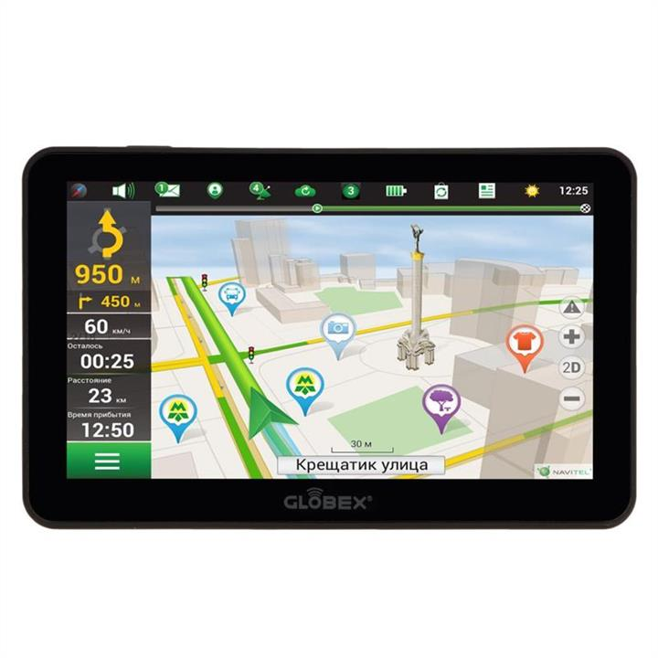 Автомобильный GPS навигатор GLOBEX GE-711 (Navitel)