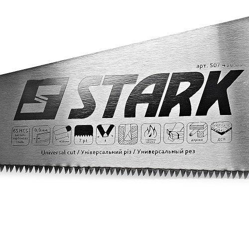 Ножовка по дереву Stark 450 мм, 7 зубьев Stark 507450007 - фото 3