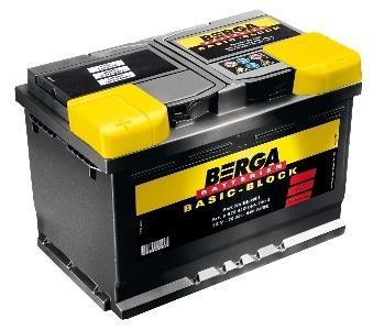 Батарея аккумуляторная Berga 12В 60Ач 540A(EN) L+