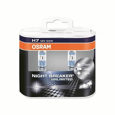 Лампа галогенная Osram Night Breaker Unlimited +110% H7 12V 55W (2 шт.)