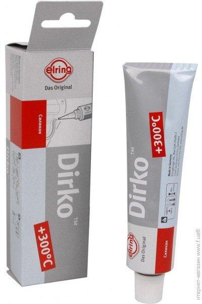 Герметик прокладок, силиконовый,  высокотемпературный, серый, 70 мл