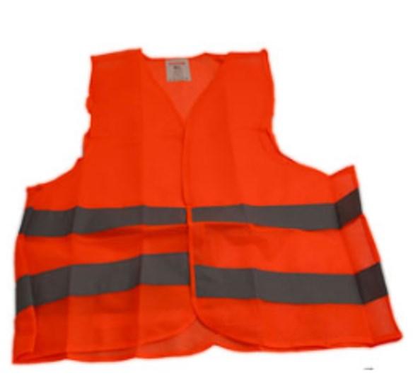 Жилет безопасности Poputchik оранжевый сетка Poputchik 05-002