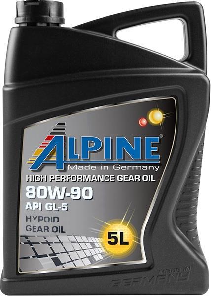 Масло трансмиссионное ALPINE Gear Oil 80W-90 GL-5, 5 л