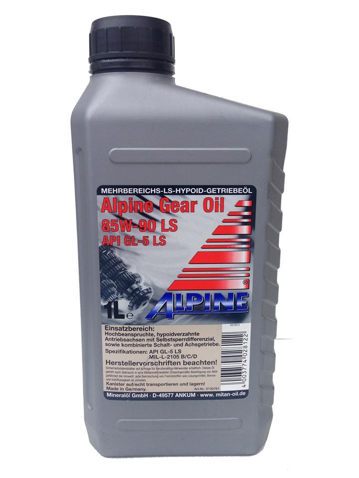 Масло трансмиссионное ALPINE Gear Oil 85W-90 LS GL-5, 1 л