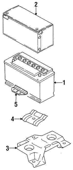Батарея аккумуляторная VAG 12В R+ VAG 000 915 105 AF