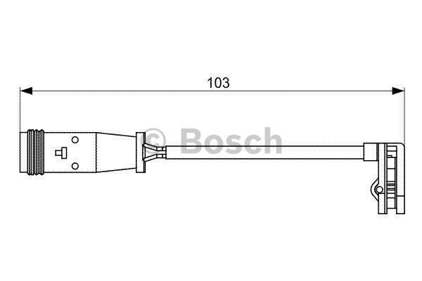 Датчик износа тормозных колодок Bosch 1 987 473 037 - фото 5