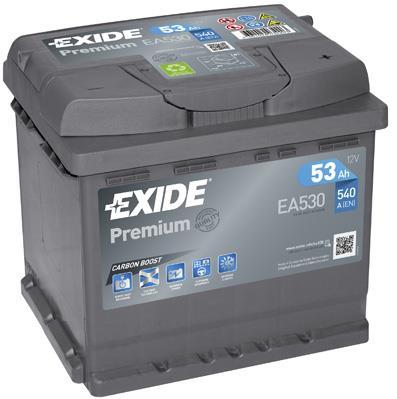 Батарея аккумуляторная Exide Premium 12В 53Ач 540A(EN) R+