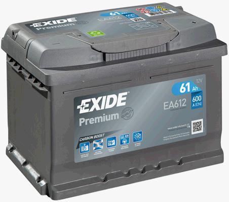 Батарея аккумуляторная Exide Premium 12В 61Ач 600A(EN) R+ Exide EA612