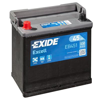 Батарея аккумуляторная Exide Excell 12В 45Ач 330A(EN) L+